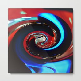 Swirling colors Metal Print
