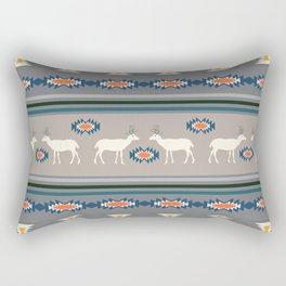 Decorative Christmas pattern with deer Rectangular Pillow