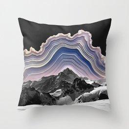 Agate Mountains Throw Pillow