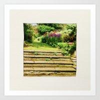 A Summer Garden. Art Print