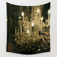 chandelier Wall Tapestries featuring New Orleans Chandelier by Briole Photography