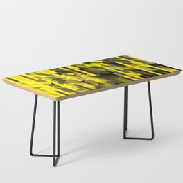 abstract composition in yellow and grays Coffee Table