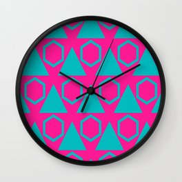 Triangles and honeycombs pattern Wall Clock