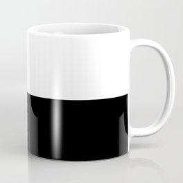 Abstract Black and White Horizon Color Block Coffee Mug