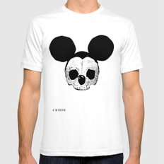 Dead Mickey Mouse Mens Fitted Tee SMALL White