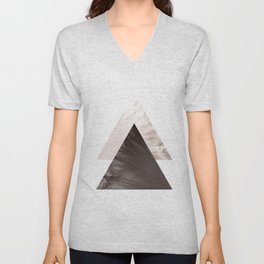 Minimal Scandinavian Triangle Print Unisex V-Neck