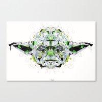 yoda Canvas Prints featuring yoda by yoaz