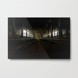 NYC Subway 'Straight-away' Metal Print