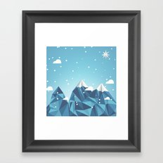 Cool Mountains Framed Art Print