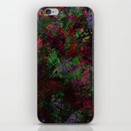 Purple Warfare - Abstract purple, pink, green and black abstract iPhone Skin