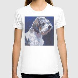 The PBGV Petit Basset Griffon Vendeen dog art portrait from an original painting by L.A.Shepard T-shirt
