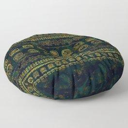 Maya Calendar Glyphs pattern Floor Pillow