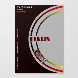 Mahindra Racing FIA Formula E Season One Race 08 Berlin ePrix Poster Canvas Print