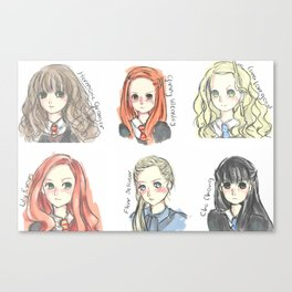 HP Inspired Characted Sketches Canvas Print
