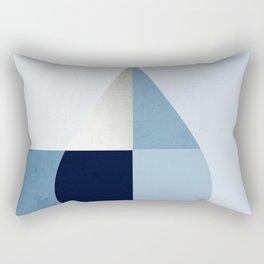 Geometric raindrop - chambray blues Rectangular Pillow