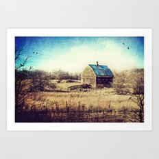 Interlude in Blue Art Print
