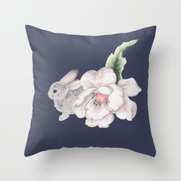 Shy Bunny Throw Pillow
