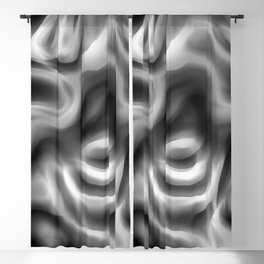 Retro 70's Blurred Abstract Pattern Greyscale Blackout Curtain