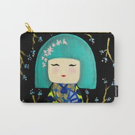 Green Kimi Doll Carry-All Pouch