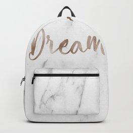 Rose gold marble dream Backpack