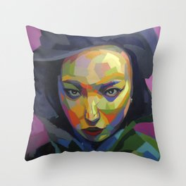 Cine negro Throw Pillow