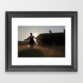 spin away Framed Art Print