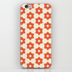 Retro Red Flower iPhone & iPod Skin
