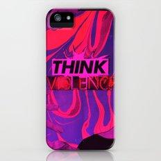 THINK VIOLENCE  Slim Case iPhone (5, 5s)