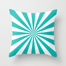 Starburst (Tiffany Blue/White) Throw Pillow