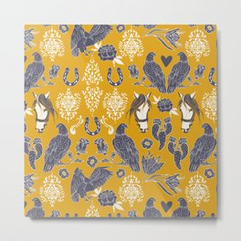 Western nature pattern 76 Metal Print