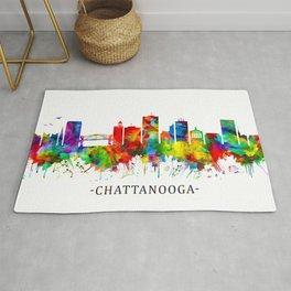 Chattanooga Tennessee Skyline Rug