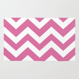 Thulian pink - violet color - Zigzag Chevron Pattern Rug