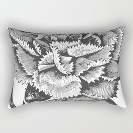 Vintage Carnation Rectangular Pillow