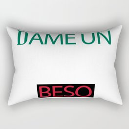 Dame Un Beso (Give Me a Kiss) Rectangular Pillow