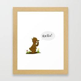 Hello bear! Framed Art Print