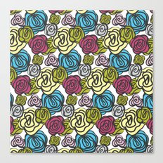 Bold roses Canvas Print