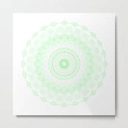 Snowflake #006 transparent Metal Print