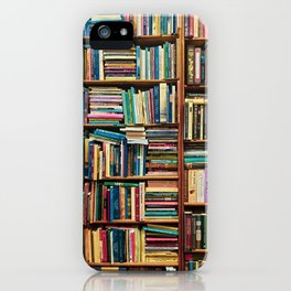 Bookshelf with Colourful Books iPhone Case