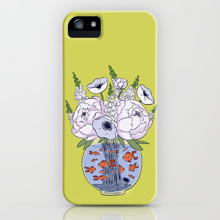 Goldfish Flowers iPhone Case