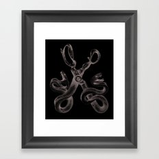 Snake Scissors Framed Art Print