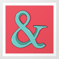 ampersand Art Prints featuring Ampersand by Chelsea Herrick