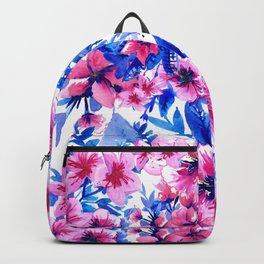 Floral Print Tropical Magenta Backpack