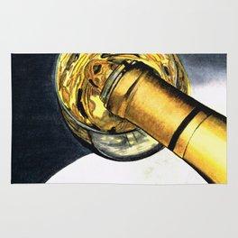 White Wine Art - Lap Of Luxury - By Sharon Cummings Rug