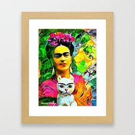 Frida's Cat Framed Art Print