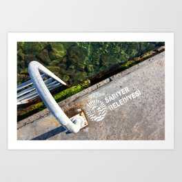"""Travel Photography """"Abstract image of swimming stairs in the sea of the Bosphorus, Istanbul, Turkey"""" Fine Art Photo Print.  Art Print"""