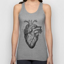 Anatomic hearth engraving Unisex Tank Top