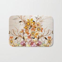 Fall Flower Centerpiece Bath Mat