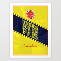colombia Art Prints featuring Colombia by liamhohoho