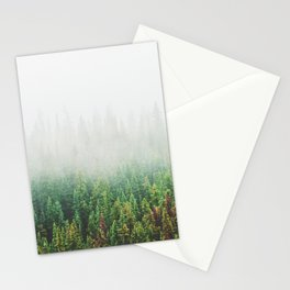 Misty Jasper Pine Forest Stationery Cards