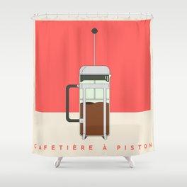 Cafetière à Piston (French Press) Shower Curtain